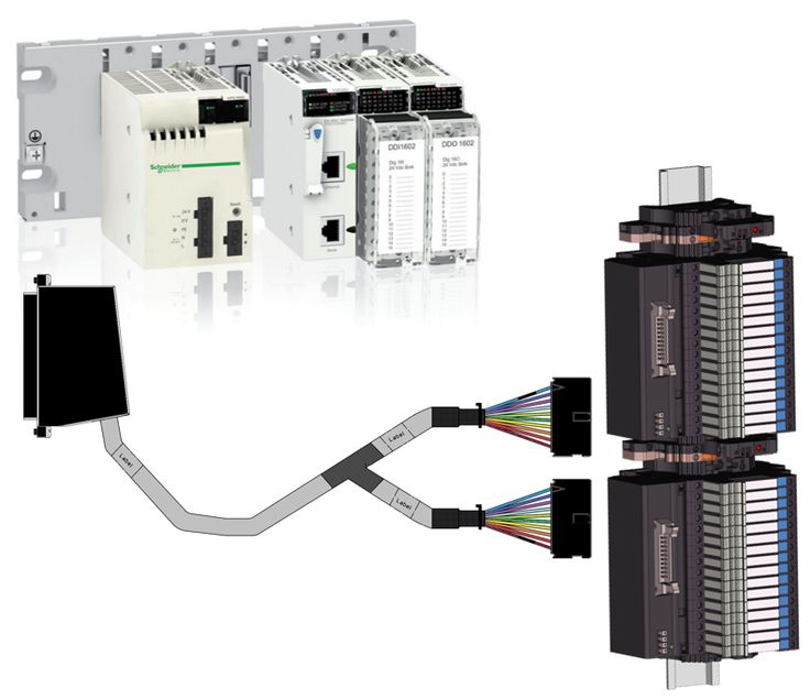 Weidmuller harness for Schneider X80 IO and other platforms