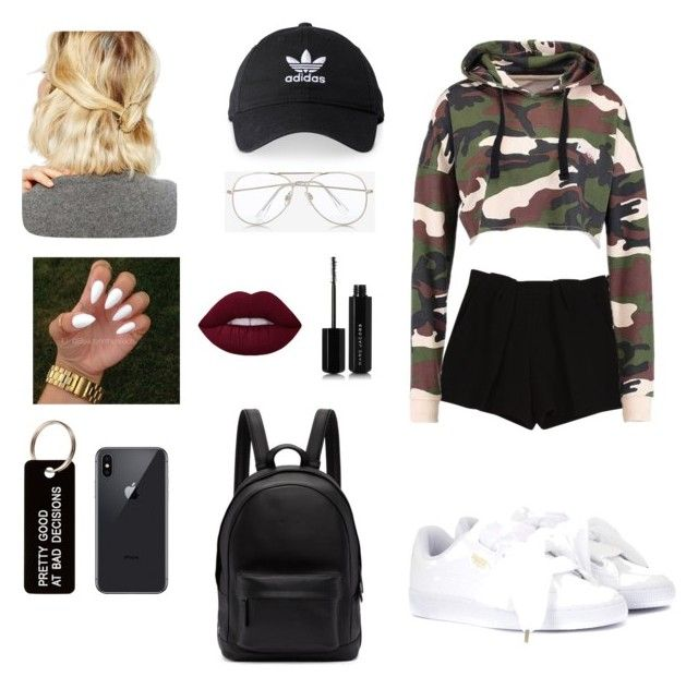 Untitled #1 by cande-monier on Polyvore featuring polyvore, mode, style, Chloé, Puma, PB 0110, WithChic, adidas, Express, Various Projects, Marc Jacobs, fashion and clothing
