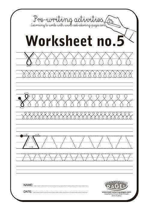 Pre-writing activities - Worksheet no.5