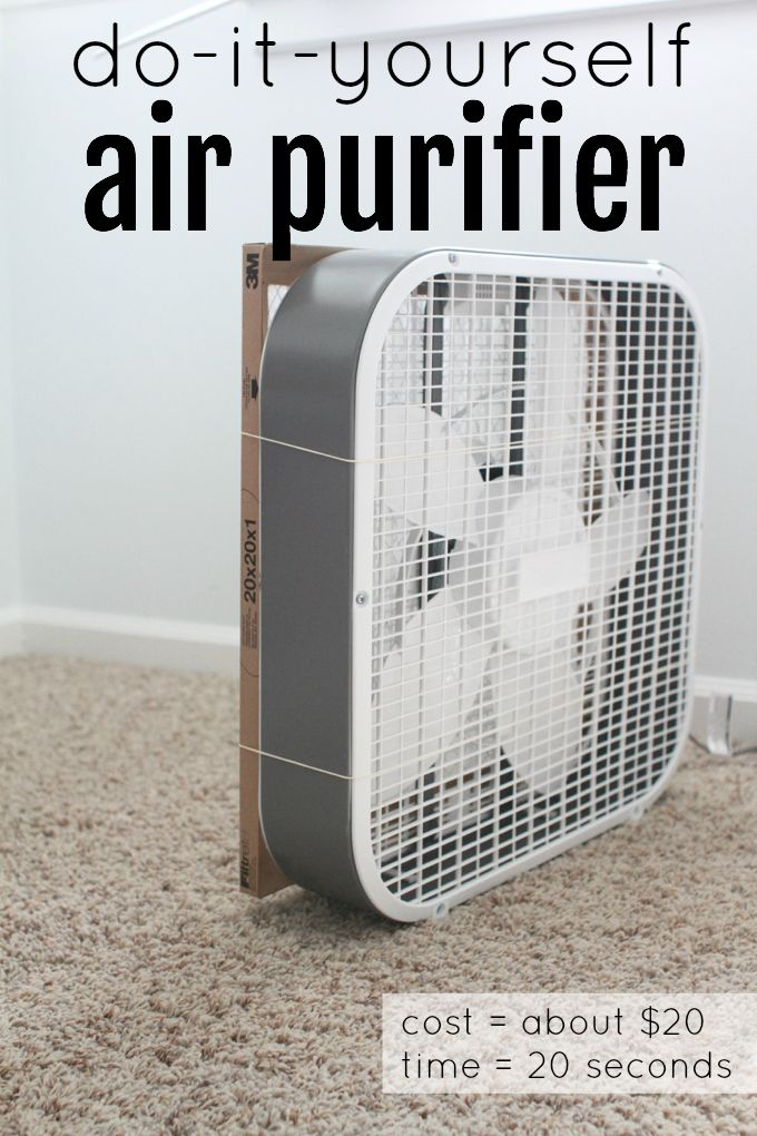 This idea is brilliant!  Forget air purifiers that cost hundreds of dollars...this DIY Air Purifier can be made in  20 seconds for about 20 dollars.