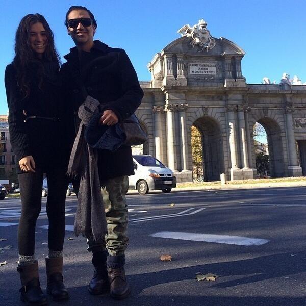 AF y Karla Laveaga en Madrid