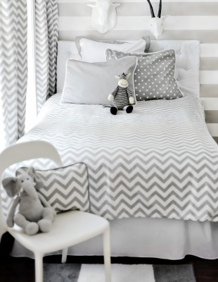 chevron bedspread.  me like.