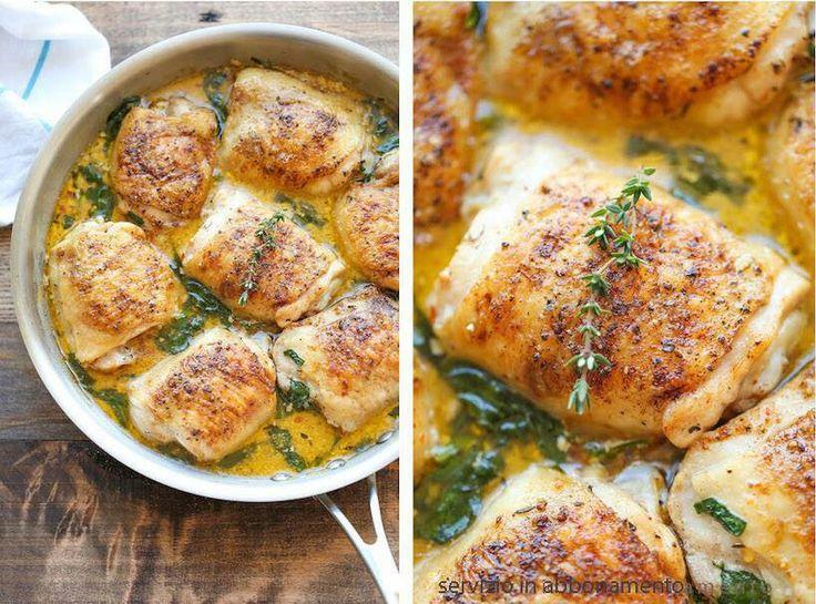 Involtini di pollo al timo e limone