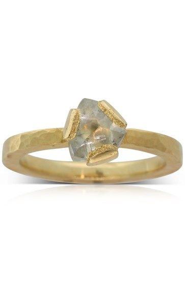Todd Pownell 18ct yellow gold .60ct diamond solitaire ring
