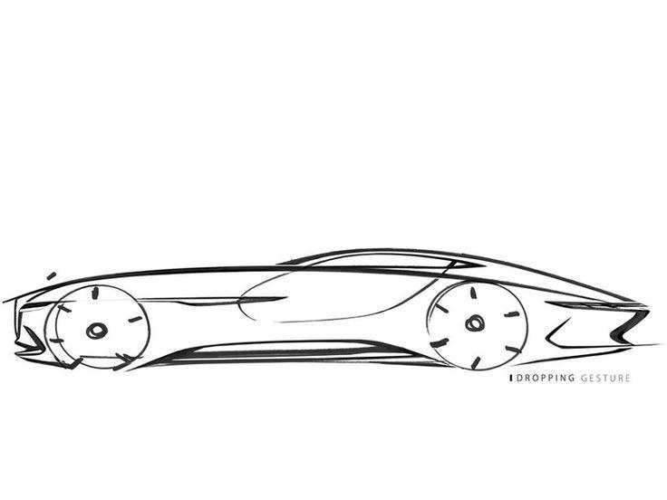 Mercedes Maybach 6 Concept Design Sketch