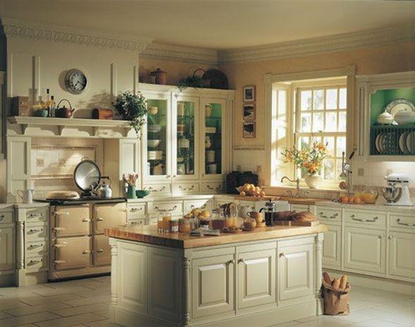 fotos de cocinas clsicas con muebles de madera - Cocinas Clasicas