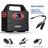 Coolis 150Wh Portable Power Inverter Generator with Silent 110V AC 12V DC and USB Output 40800mAh Lithium Polymer Battery