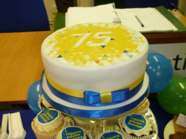 Herefordshire CAB 75th birthday cake