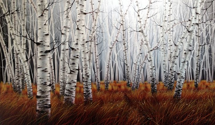 "SOLD ""Into the Woods"" by Warren Salter www.tuskgallery.com.au"