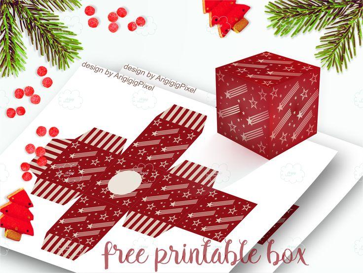 Free printable boxes PDF file  #freebies #free #printable #advent #download #freebiefriday