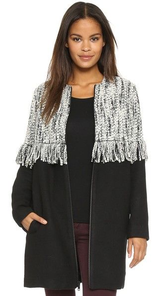 Loeffler Randall Long Fringe Coat | Fashion & Lifestyle for tall women | tall clothing | tall style | tall ootd | long arms | long legs | tall clothes