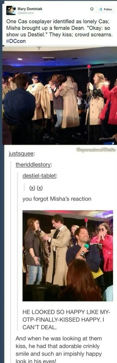 Internet, I give you Misha Collins: the biggest dork who ever dorked and that just makes him even more lovable.