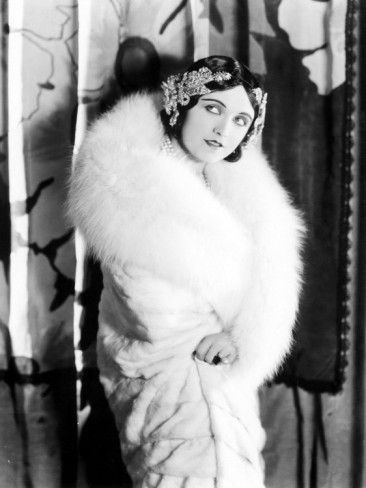 Pola Negri Wearing a White Knee-Length Fur Llate, Late 1930s Poster at AllPosters.com