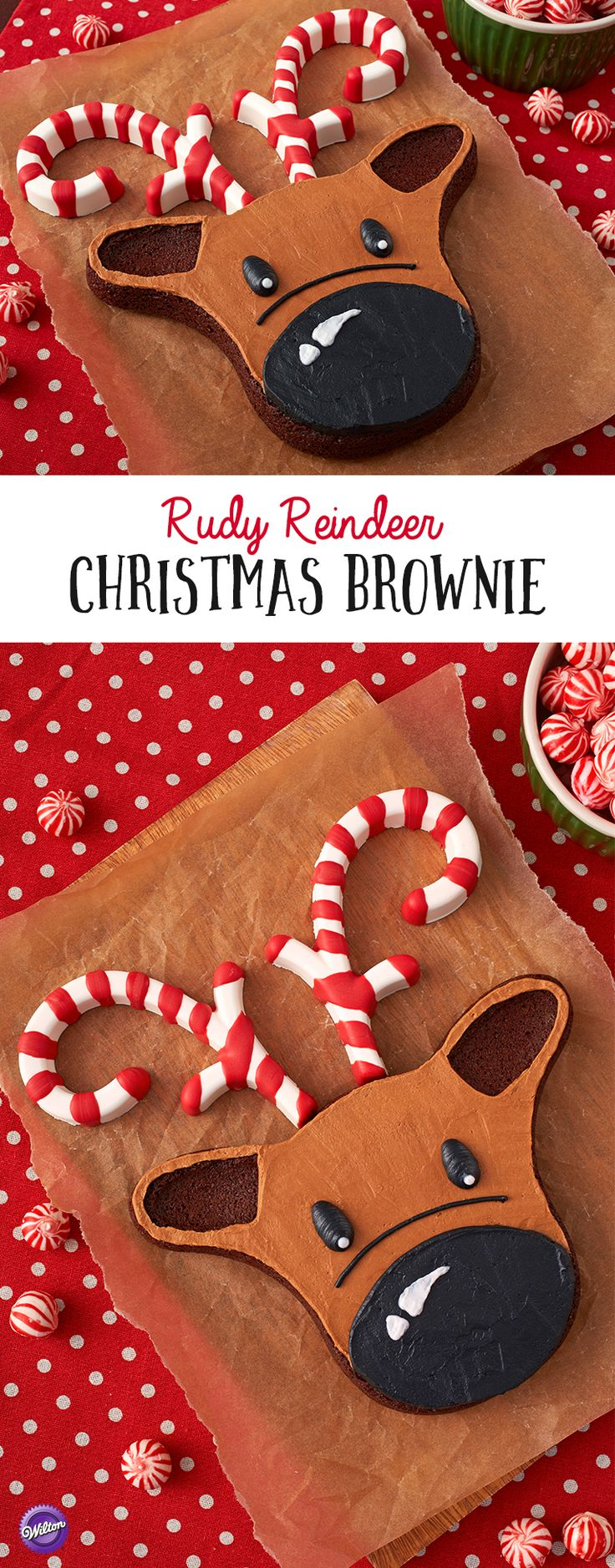 How to Make a Reindeer Christmas Brownie - This cute and ... - photo#39