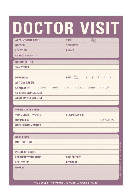Knock Knock Doctor Visit Notepad Knock knock, Ps and Doctors