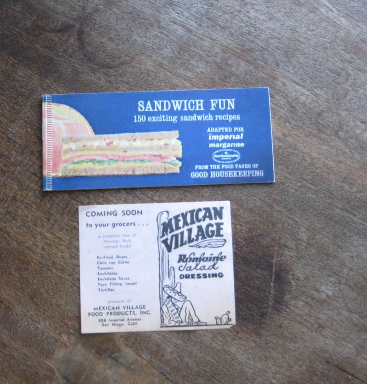 Cute Midcentury Good Housekeeping/Imperial Margarine Sandwich Recipe Booklet  + Mexican Village Dressing Promo; Free Ship/U.S. by MintysMercantile on Etsy