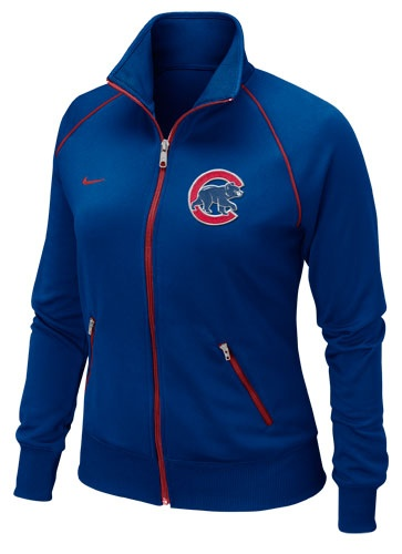 This is sweet!!! Chicago Cubs Women's Royal Full Zip Track Jacket by Nike (3.19.12)