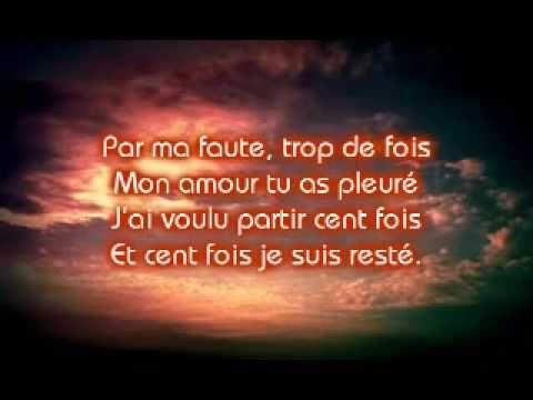 Mike Brant - Rien Qu'Une Larme Dans Tes Yeux (Lyrics) - YouTube
