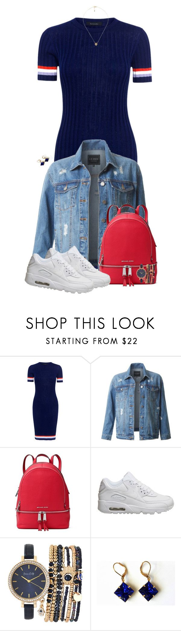 """Untitled #1126"" by xsheaintmex on Polyvore featuring Karen Walker, LE3NO, MICHAEL Michael Kors, NIKE, Jessica Carlyle, Gucci, justtheoutfit, weekendvibes and chicvibes"