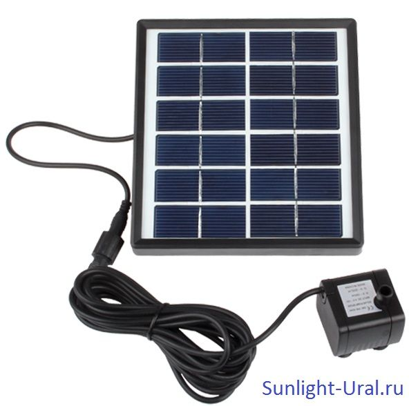 Солнечная панель: 6 В/1.5 ВтБесщеточный насос: DC 4.5-10 ВМаксимальный расход: 175 л/чМаксимальный напор: 85 смЦвет: черныйДекоративный фонтан на солнечных батареях прост и безопасен