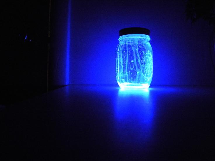 I DID IT!!   Glowstick in a jar!