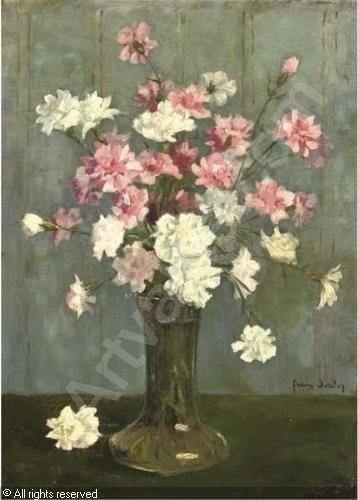 OERDER Frans Дэвид - Anjers: розовые и белые гвоздики