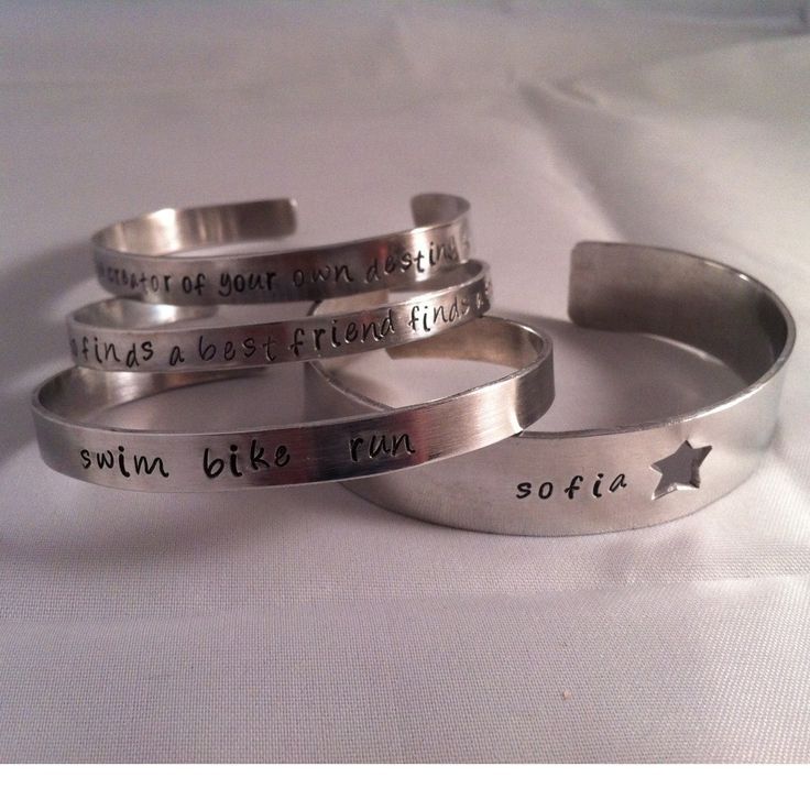 Bangle central!   Aluminium cuff bangles with quotes/names etc   From £10 #jewellery #bespoke #supermumscraftfair #gift #forsale #giftidea #wedding #bespoke #style #fashion http://pict.com/p/7L