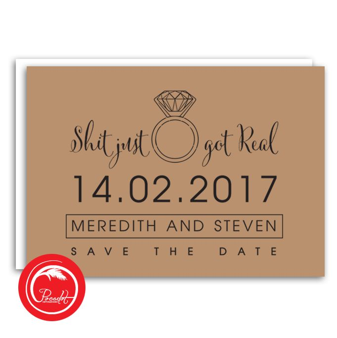 'This Just Got Real' Save The Date