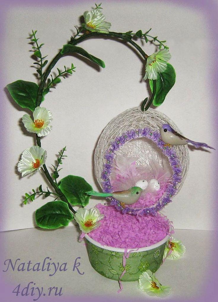 4Dekor вдохновение: Мастер-класс от Натальи: гнездышко для райских пти...
