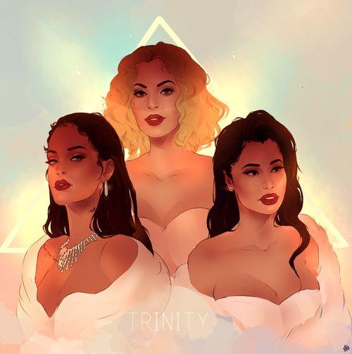 beyoncé, rihanna, and nicki minaj image