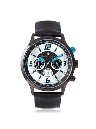 77% OFF Christian Van Sant Men's CV3121 Speedway Black/Silver/Blue Alloy Watch