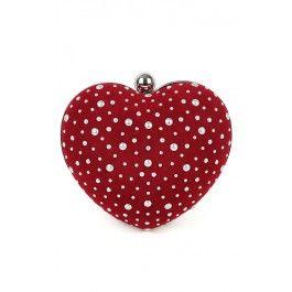 Studded Heart Clutch