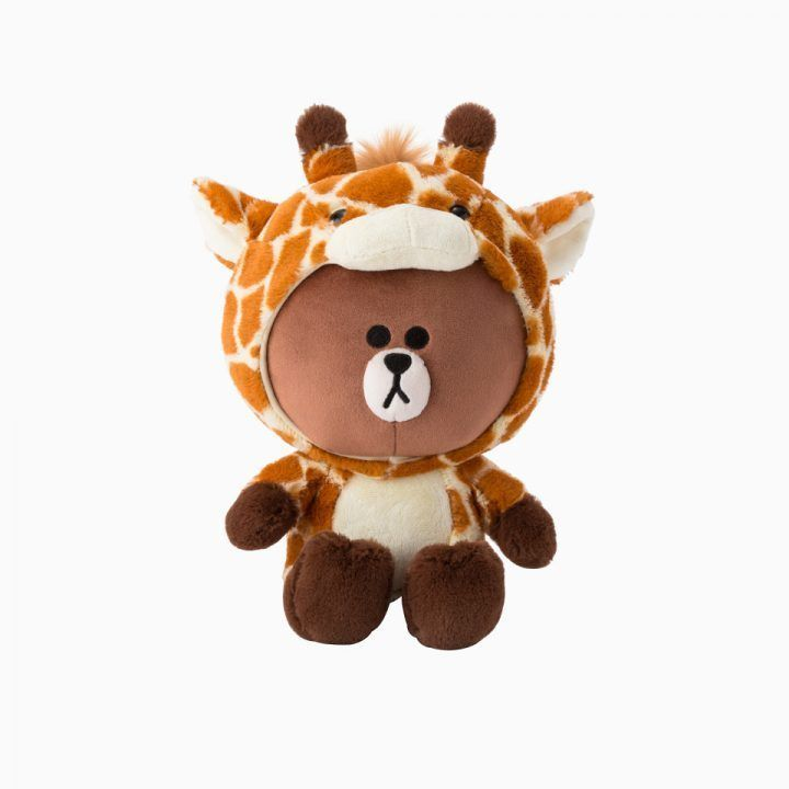 "LINE FRIENDS Character Plush Doll Toy G. BROWN Bear 25cm 9.8"" Official Goods #LINEFRIENDS #DollswithClothingAccessories"