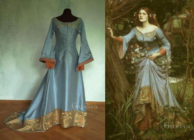 Celtic wedding dress replica