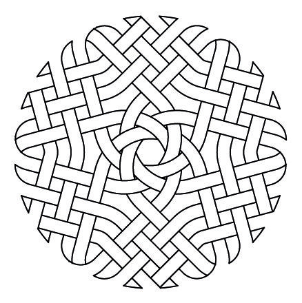 Celtic Knotwork Hexagon2 by Peter Mulkers