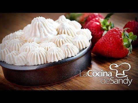 Crema chantilly o nata más firme en recetas de postres faciles - YouTube