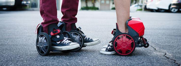 RocketSkates Electric Skates Make the World Your Speedy Roller Derby Rink -  #electric #rides #skates #sports