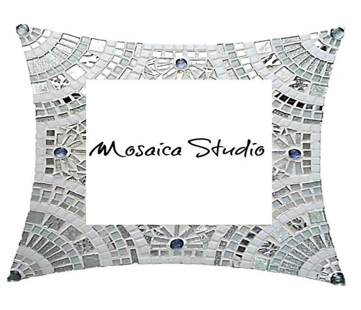 Mosaic White and Silver Bling  Mirror Kit-Set by MosaicStudio1 on Etsy