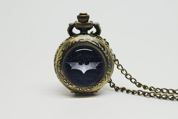 Vintage Glass Pocket Watch Necklace with Inspired by whatastate, $24.90