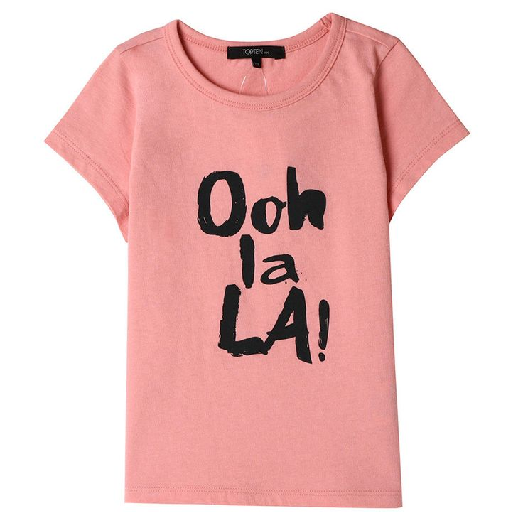 Topten10 KIDS GIRL French Lettering Slim Graphic Cotton T-shirt_5 options #Topten10 #Everyday