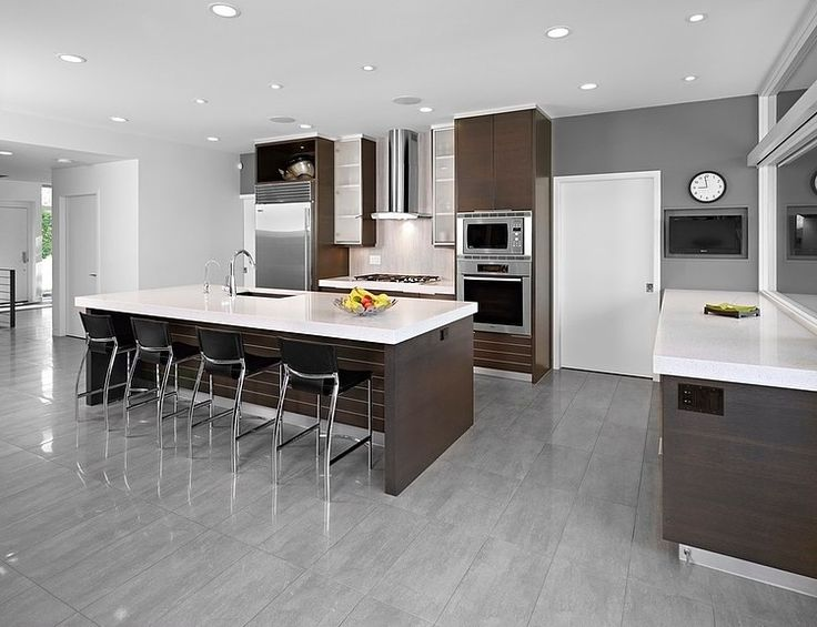 Charmant Astonishing Kitchen Design At The Sd House Thirdstone Applied Darkwood  Cabinetry And White Granite Countertop And