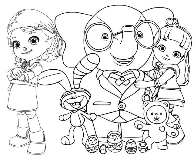 All Characters Of Rainbow Ruby Coloring Page In 2020 Cartoon