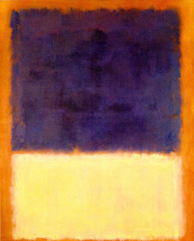 Red, Orange, Tan and Purple  (1954),  painting by Mark Rothko