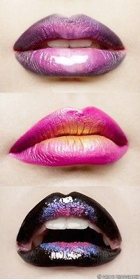 Lola loves multi toned lipgloss.  Start from the outside with a pencil and work inward with either lipsticks or more pencils.  Finish with a gloss for high shine..Perfect for club nights www.lolabyginapayne.com