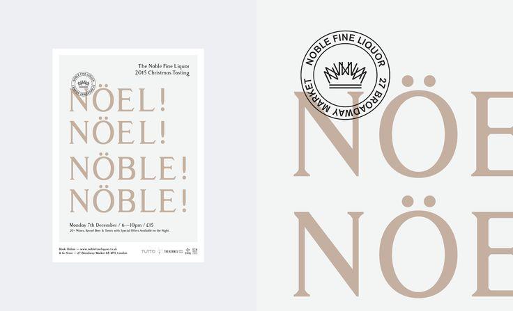 New Poster for Noble Fine Liquor's 2015 Christmas Tasting.