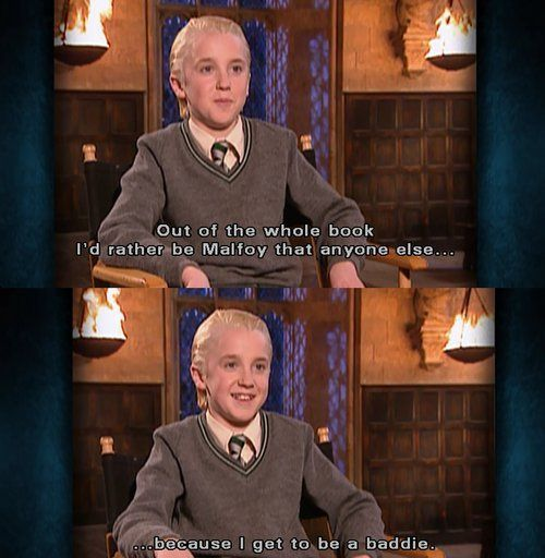 """Tom Felton and Emma Watson discuss Hermione punching Draco in """"Harry Potter and the Prisoner of Azkaban"""". XD"""