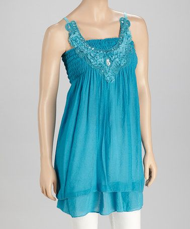 Take a look at this Teal Sequin Tunic by SR Fashions on #zulily today!