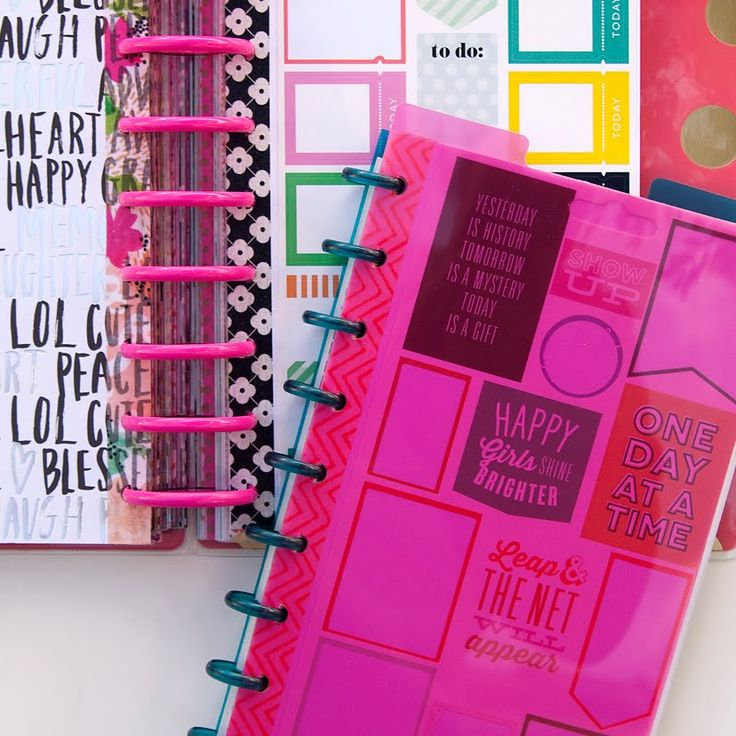 "Watch how I created two books to keep all of my Happy Planner stickers in. Sticker pages: 9""x5.5"" Paper: me & my BIG ideas Discs: The Happy Planner Dashboard..."