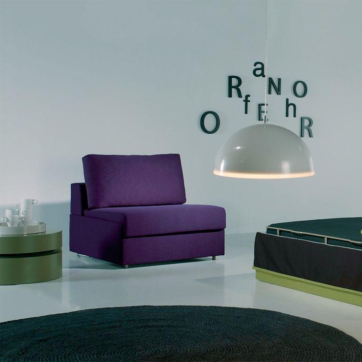 Sofá cama individual Módulo de Goher. Sofás cama modernos. Sofás cama 1 plaza