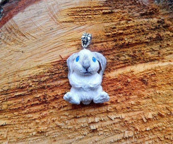Rabbit Pendant, Rabbit Jewelry, Bunny Jewelry, Rabbit Totem, bunny totem…